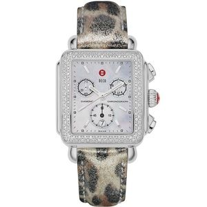 Leopard Michele Watch Band 18 mm.